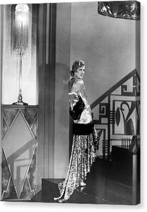Movie Star Olga Baclanova Canvas Print by Underwood Archives