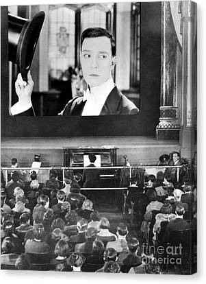 Movie Theater, 1920s Canvas Print by Granger