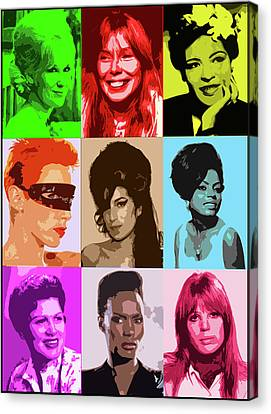 Music Icons #1 Female Canvas Print by Cathy Cain