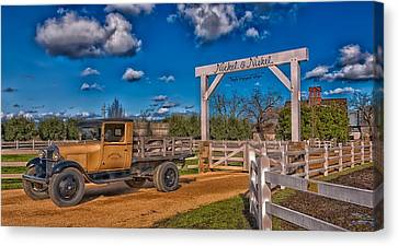 Napa Valley Winery Entrance Canvas Print by Mountain Dreams