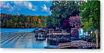 Nature Landscapes Around Lake Wylie South Carolina Canvas Print by Alex Grichenko
