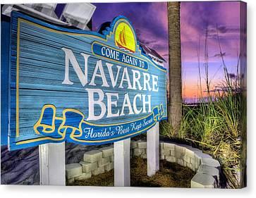 Navarre Beach Canvas Print by JC Findley