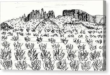 Near Guadix Canvas Print by Chani Demuijlder