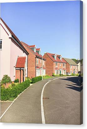 New Build Homes Canvas Print by Tom Gowanlock