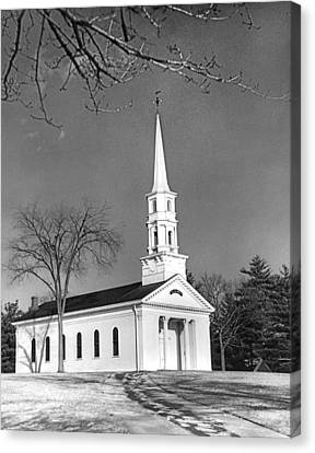 New England Church Canvas Print by Underwood Archives