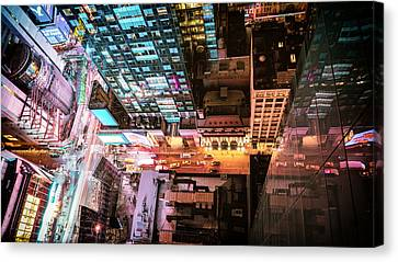 New York City - Night Canvas Print by Vivienne Gucwa