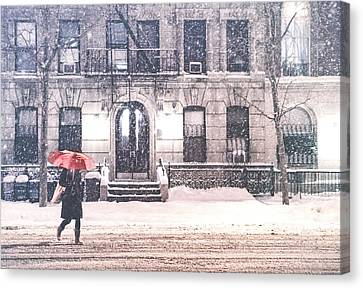 New York City Snow Canvas Print by Vivienne Gucwa