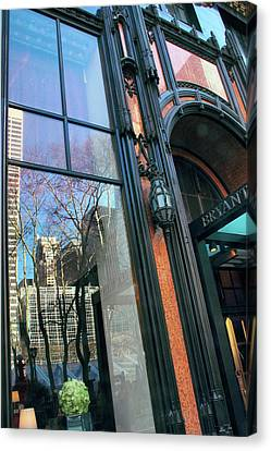 Facade Reflections Canvas Print by Jessica Jenney