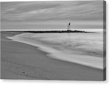 Nj Shore Jetty First Light Canvas Print by Susan Candelario