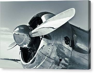 North American Aviation T-6 Texan Monochrome Plane Canvas Print by Tony Grider