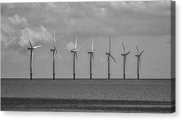 North Sea Wind Farm Canvas Print by Martin Newman
