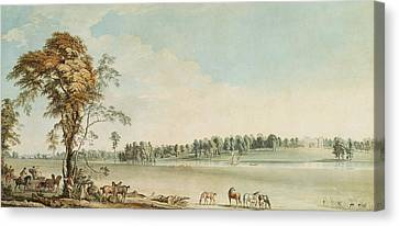 North West View Of Wakefield Lodge In Whittlebury Forest, Northamptonshire Canvas Print by Paul Sandby