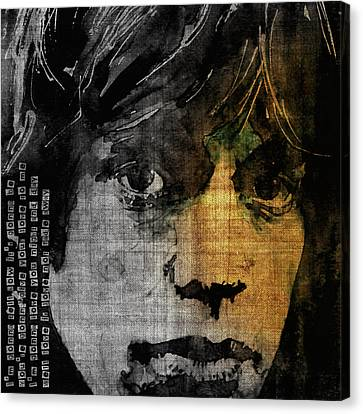 Mick Jagger Poster Canvas Print featuring the painting Not Fade Away  by Paul Lovering