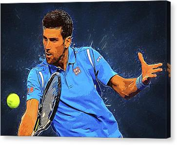 Novak Djokovic Canvas Print by Semih Yurdabak