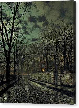 November Canvas Print by John Atkinson Grimshaw