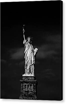 Nyc Miss Liberty Canvas Print by Nina Papiorek