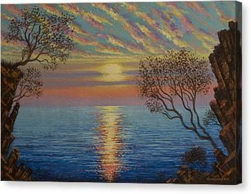 Ocean Canvas Print by Vrindavan Das