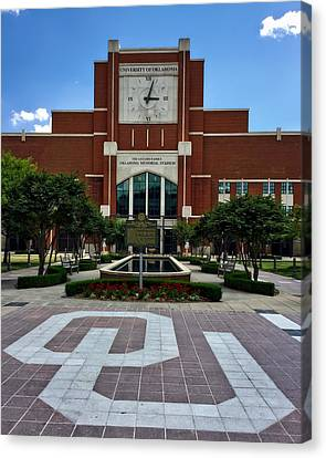 Oklahoma Memorial Stadium Canvas Print by Center For Teaching Excellence