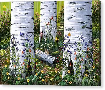 Old Aspen Grove Canvas Print by Jennifer Lake
