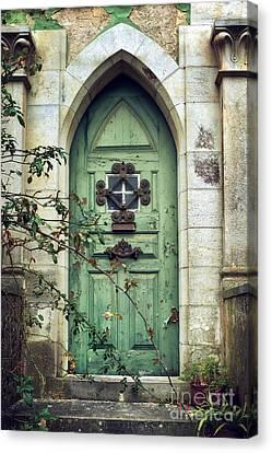 Old Gothic Door Canvas Print by Carlos Caetano
