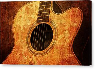 Old Guitar Canvas Print by Nattapon Wongwean