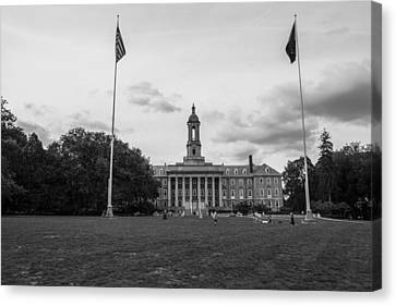 Old Main Penn State Black And White  Canvas Print by John McGraw