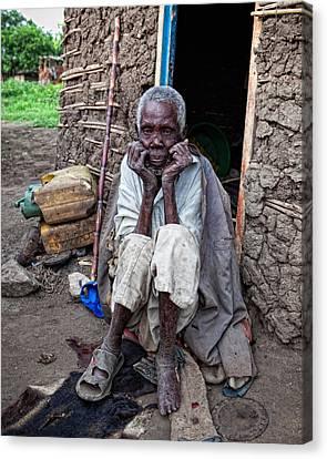 Old Man Africa Canvas Print by Jennifer K
