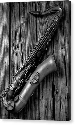 Old Sax Canvas Print by Garry Gay