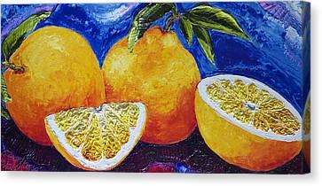 Oranges Canvas Print by Paris Wyatt Llanso