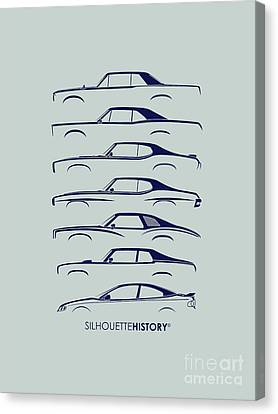 Original Muscle Silhouettehistory Canvas Print by Gabor Vida
