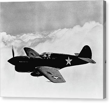 P-40 Warhawk Canvas Print by War Is Hell Store