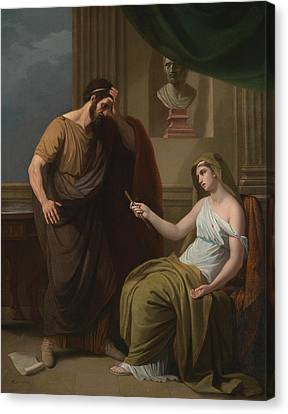 Paetus And Arria Canvas Print by Benjamin West