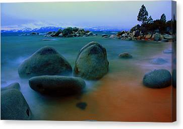 Painted Tahoe Canvas Print by David Frissyn