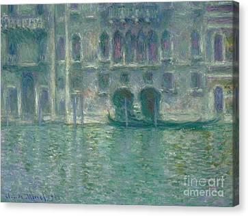Palazzo Da Mula  Venice Canvas Print by Claude Monet