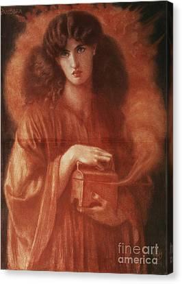Pandora Canvas Print by Dante Charles Gabriel Rossetti