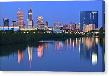Panoramic Indianapolis Canvas Print by Frozen in Time Fine Art Photography