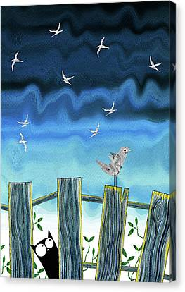 Paper Bird  Canvas Print by Andrew Hitchen