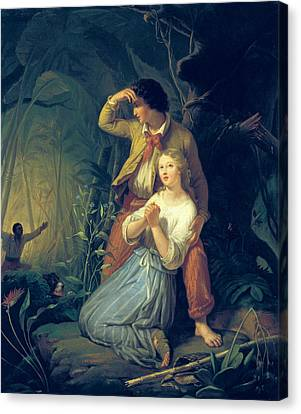 Paul And Virginie Canvas Print by French School