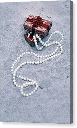 Pearl Necklace Canvas Print by Joana Kruse