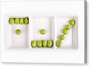 Peas Canvas Print by Nailia Schwarz