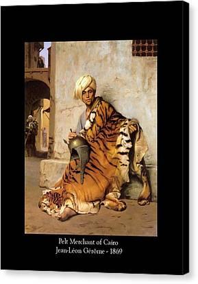 Pelt Merchant Of Cairo - 1869 Canvas Print by Jean-Leon Gerome
