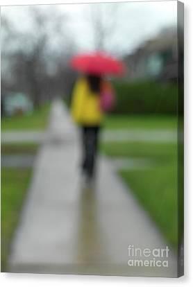 People In The Rain Canvas Print by Oleksiy Maksymenko