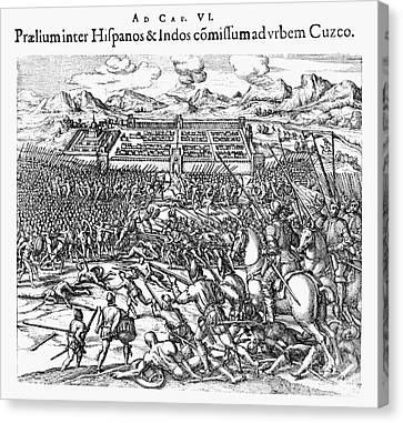 Peru: Spanish Conquest Canvas Print by Granger
