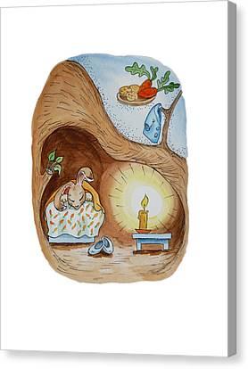 Peter Rabbit And His Dream Canvas Print by Irina Sztukowski