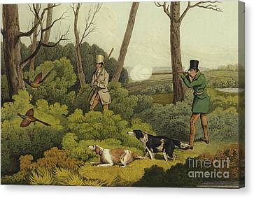 Pheasant Shooting Canvas Print by Henry Thomas Alken