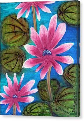 Pink Padma- The Lotus Canvas Print by Sandhya Manne