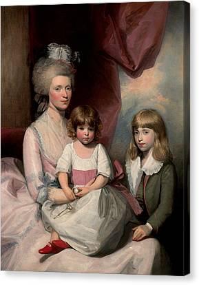 Portrait Of A Family Canvas Print by Gilbert Stuart
