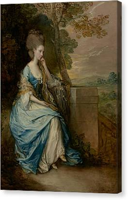 Portrait Of Anne -  Countess Of Chesterfield Canvas Print by Thomas Gainsborough