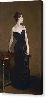 Portrait Of Madame Gautreau Canvas Print by John Singer Sargent