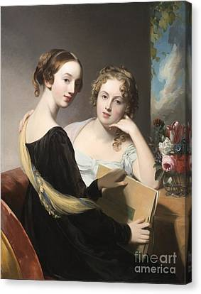 Portrait Of The Misses Mary And Emily Mceuen Canvas Print by Thomas Sully